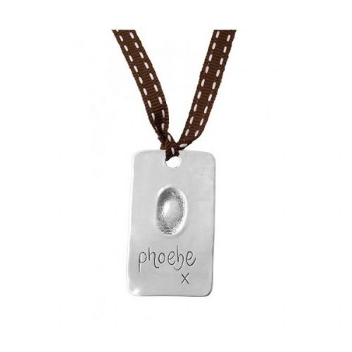 Silver Fingerprint Bookmark